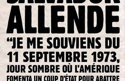 Chili: 11 septembre 1973 n'oublions pas !