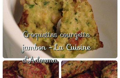 Croquettes courgette jambon