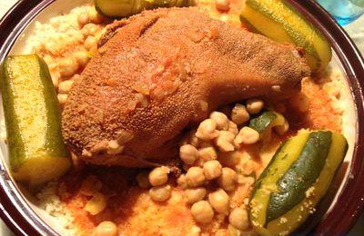 Couscous au panse d'agneau (couscous au osbana/osbane)