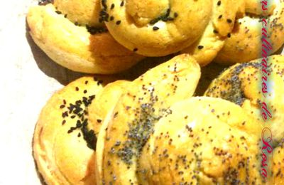 Petits pains en forme d'escargot