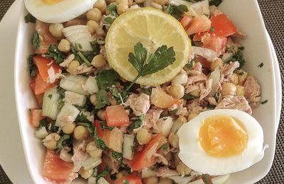 Salade de pois chiche au thon
