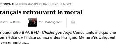 Tiens, les Français retrouvent le moral (Effet croissance)…