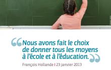 L'éducation et la formation, priorité du gouvernement, représentent le premier effort budgétaire de la Nation.