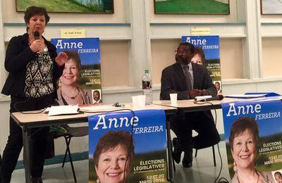 Salle comble hier avec Anne FERREIRA et Stéphan ANTHONY