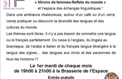 Café des langues de 19h00 à 21h00 mardi 4 juillet 2017