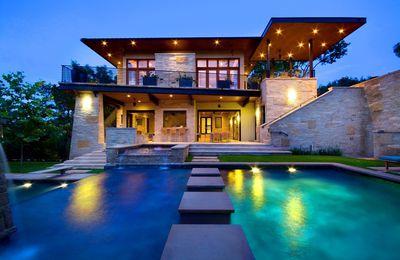 Design et stylisme de villa d'architecture