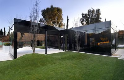 Stylisme et architecture de villa contemporaine