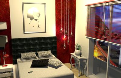 Chambre jeune femme 3D