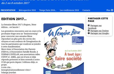 La Semaine Bleue 2017 à Rognes, 3ème édition... c'est reparti !