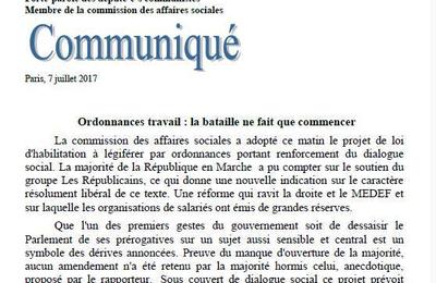 Ordonnances travail : pour les députés communistes, la bataille ne fait que commencer