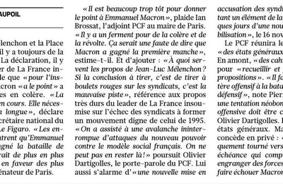 Contrairement aux Insoumis, le PCF ne donne pas le point à Macron