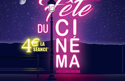 La Fête du Cinéma les dimanche 25, lundi 26, mardi 27 et mercredi 28 juin 2017 - 4 euros la séance