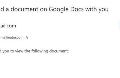 Alerte rouge au virus: ne cliquez surtout pas sur cette invitation de Google Docs.