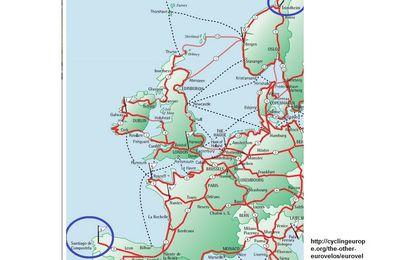 De la Norvège à l'Espagne (Eurovélo3) en passant par le val de Loire (Eurovélo6)