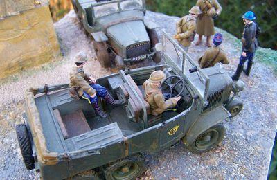 Un diorama WW2  avec deux Laffly: un Laffly W15 T et un Laffly S15R