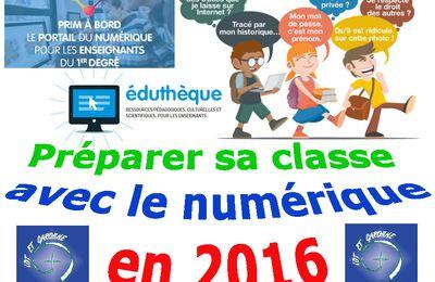 Préparer sa classe avec le numérique en 2016