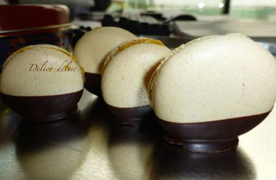 Macarons mangue chocolat