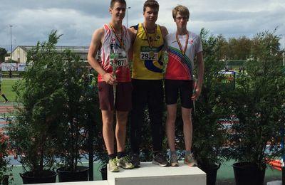 Le Bronze pour Robin au javelot lors des championnats de Belgique cadets/scolaires