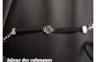 bracelet  avec rose