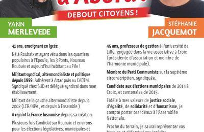 7ème circonscription: les candidats du PCF et de la France Insoumise