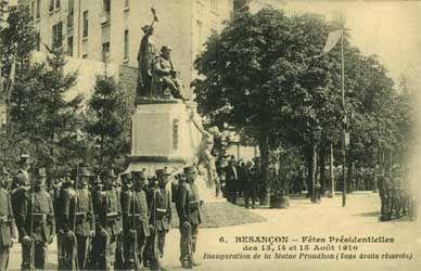 Inauguration de la statue de Proudhon