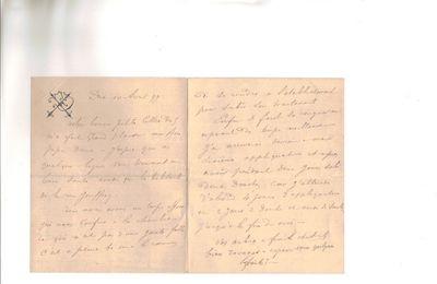 Une lettre de François-Xavier écrite en 1897 à 76 ans