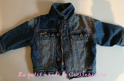 Customisation petite veste jean's