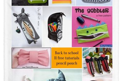 Trousses de rentrée / Back to school pouches {+Giveaway}