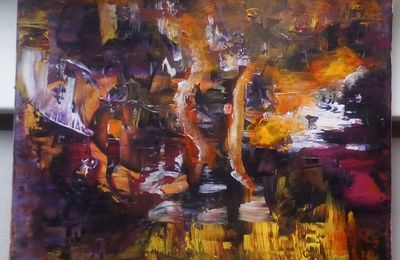 Quatre sens - peinture abstraite