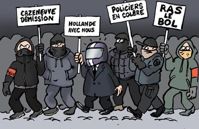 """Les policiers manifestent pour exprimer leur """"ras-le-bol""""..."""