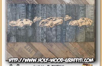 Porte-clés mural pour un garage : Ferrari - Lamborghini - Pagani