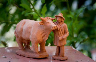 santon vache 7 cm