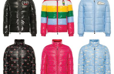 Le vêtement kawaï du jour : la doudoune Moncler en collaboration avec Friends With You
