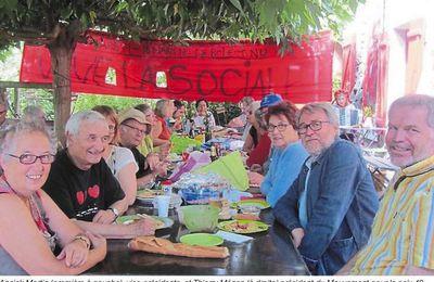 Le pique-nique du Mouvement de la Paix à Chalonnes