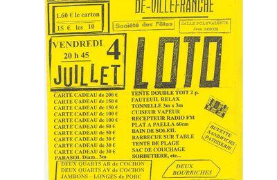 Saint Hilaire de Villefranche / Loto de la Société des Fêtes