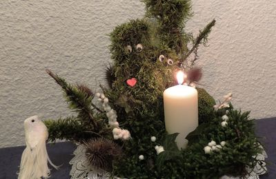noël deco naturelle - and a candle