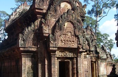Photos du temple Banteay Srei au Cambodge