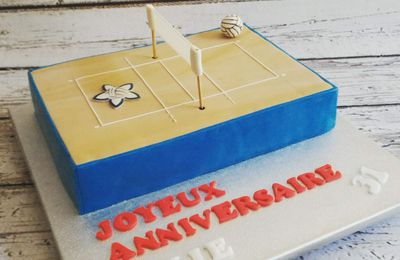 GATEAU TERRAIN DE VOLLEY - CLUB PAYS GRASSOIS VOLLEY