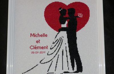 """Cadre de mariage """"Michelle et Clément"""""""