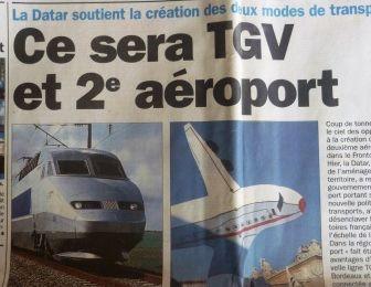 LGV et avion 2003 La Dépêche