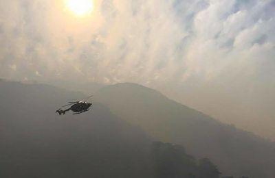 Les pompiers ont lutté à Guagno.