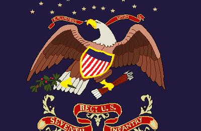 Les drapeaux de l'US Infantry