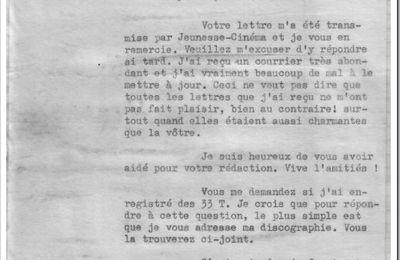 4 janvier 1963 : Lettre à Maryvonne