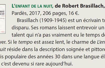 """""""La Nef"""", n°294, juillet-août 2017 : Compte rendu de """"L'Enfant de la nuit"""""""