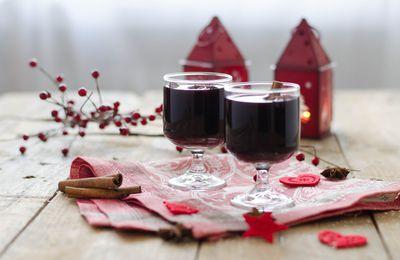 Vin chaud aux agrumes & aux épices de Noel