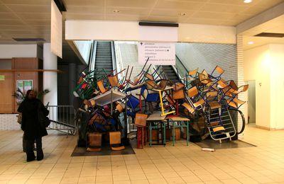 Répression contre les grévistes étudiants à Bruxelles