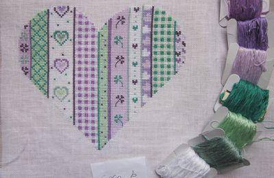 Coeur patchwork  4 et 5