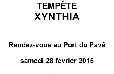 Cérémonie de commémoration de la tempête Xynthia