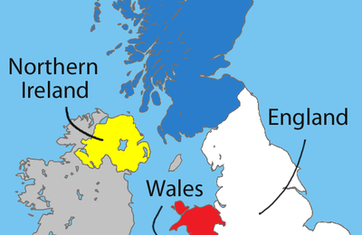 A map of the United Kingdom