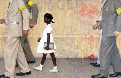"Histoire des Arts : ""The Problem We All Live With"", Norman Rockwell"